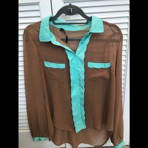 Vintage designer sheer blouse